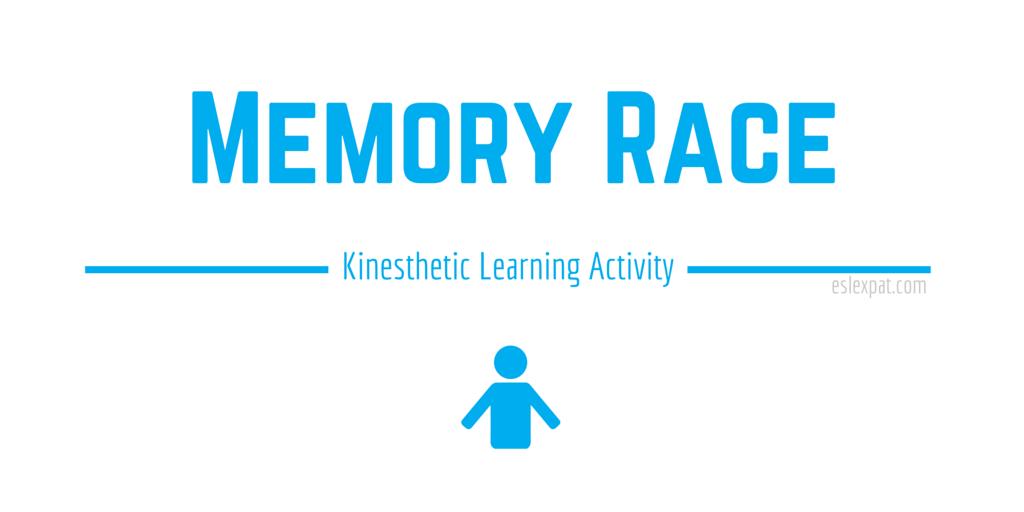 Memory Race Kinesthetic Learning Game