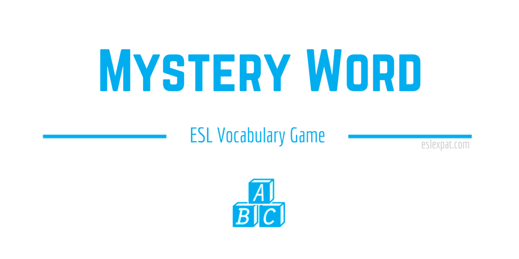 Mystery Word ESL Vocabulary Game
