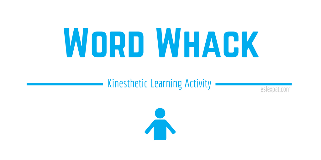 Word Whack Kinesthetic Learning Game