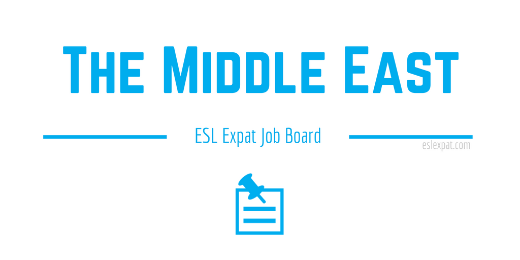 English Teaching Jobs in The Middle East