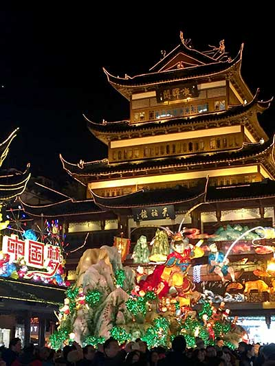 Yu Yuan in Shanghai at night