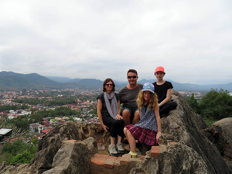 Phousi Hill in Laos