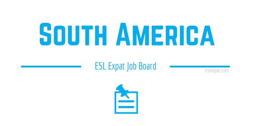 English Teaching Jobs in South America