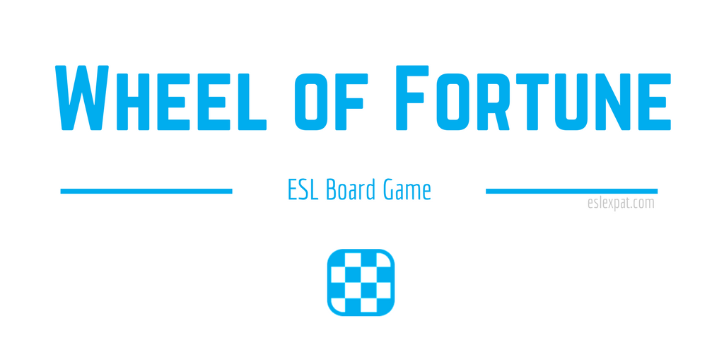 Wheel of Fortune ESL Board Game