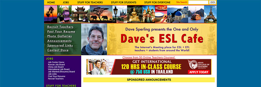 Dave's ESL Cafe - Jobs Teaching English in Korea
