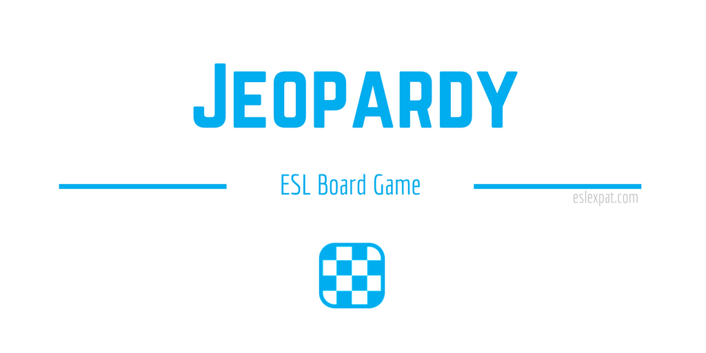 Jeopardy ESL Board Game