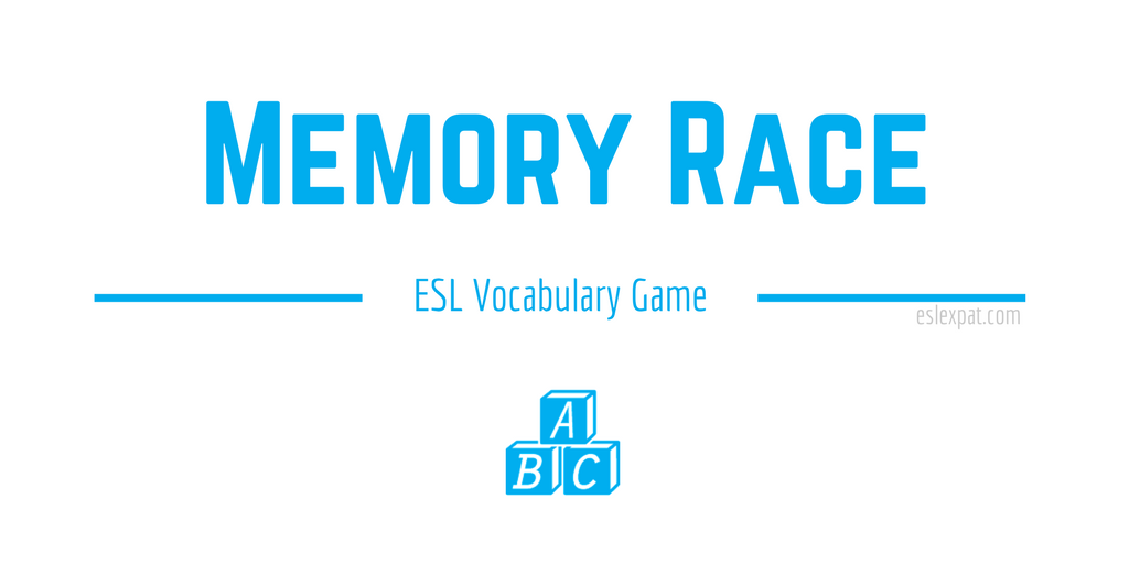 Memory Race ESL Vocabulary Game