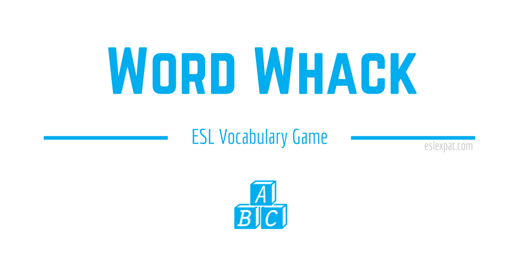 Word Whack ESL Vocabulary Game