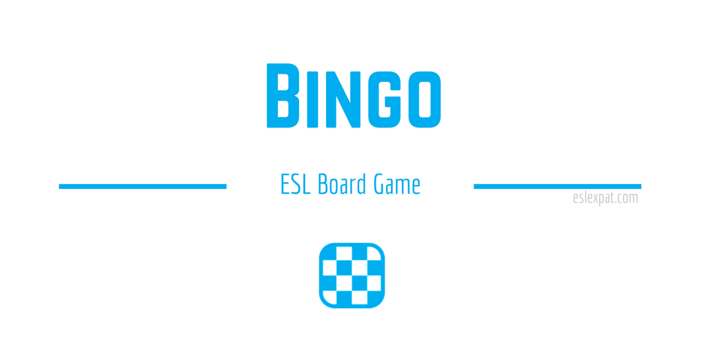 Bingo ESL Board Game