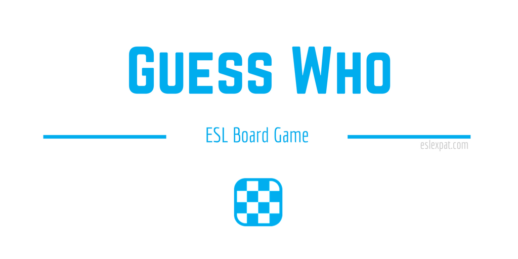 Guess Who ESL Board Game