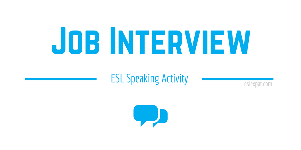 Job Interview ESL Activity