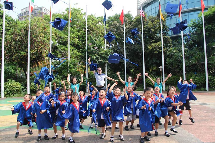 Kids Celebrate Learning English in China