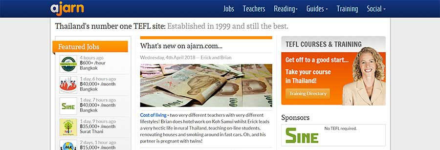 Ajarn for Thailand - Teaching English in Southeast Asia