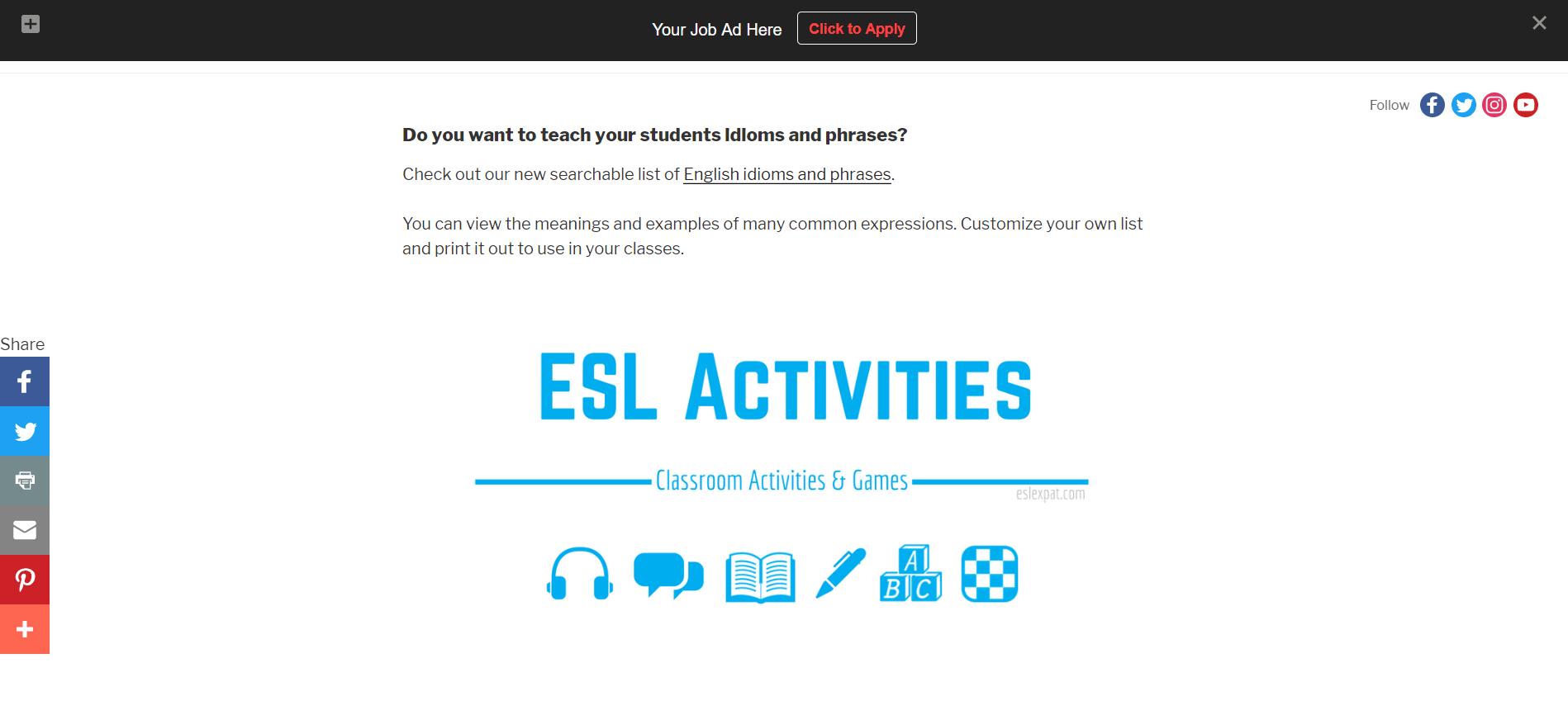 Post a Job ▻ Find an English Teacher - Job Post Options - ESL Expat