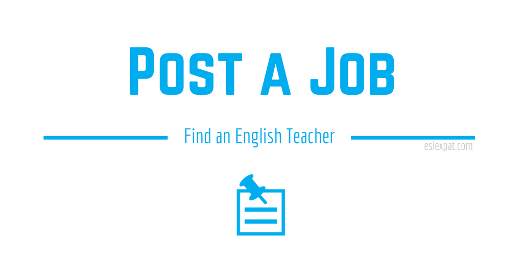 Post a Job - Find an English Teacher