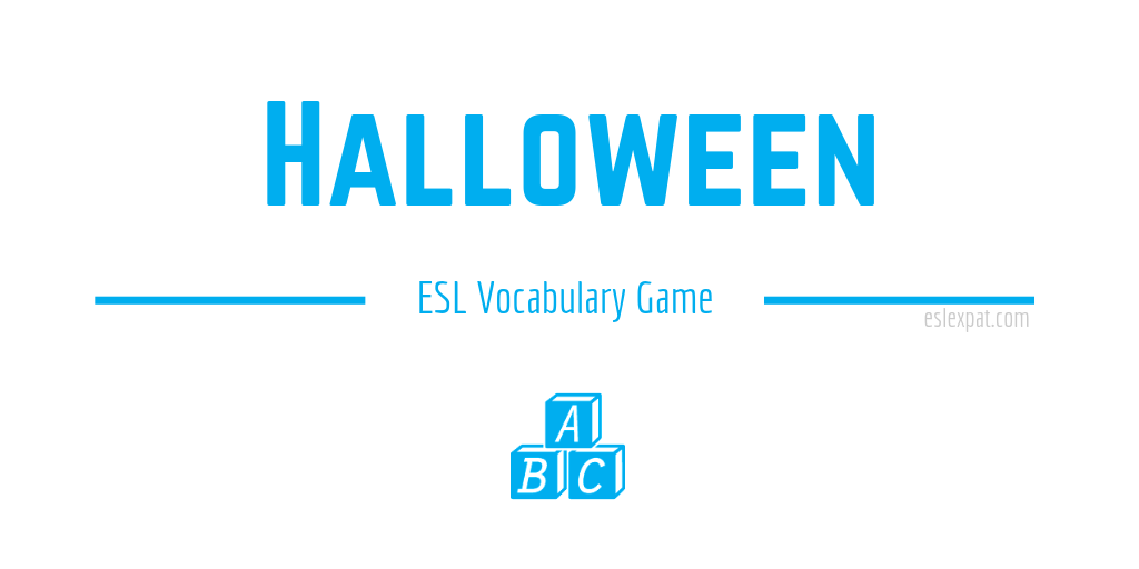 Halloween ESL Vocabulary Game